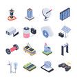 smart city isometric icons pack vector image