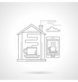 Smart house with coffee detailed line icon vector image