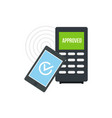 smartphone payment nfc device icon flat style vector image vector image