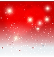 Snowflakes with stars background vector image vector image