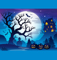 spooky tree theme image 3 vector image vector image