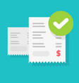 success bill payment or approved money transaction vector image vector image