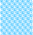 Summer mosaic pattern with dolphins vector image