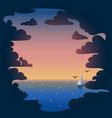 Sunset and sea background