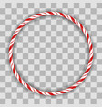sweet striped candy circle frame vector image
