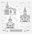 thin line icon church vector image vector image