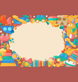 toy collection for babies big background banner vector image vector image