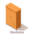 wardrobe icon isometric style vector image vector image