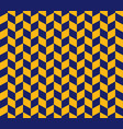 yellow and blue herringbone check pattern vector image vector image