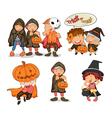 Halloween items vector image