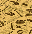 Seamless pattern of books vector image