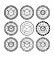 antique clocks isolate on white vintage watch on vector image