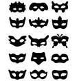 silhouette of festive masks vector image