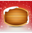 Blank wooden sign with snow and star light eps 10 vector image