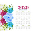 2020 happy new year flower template layout design
