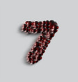 a number made by red spheres vector image vector image