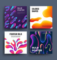 abstract backgrounds with fluid colored shapes vector image vector image