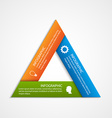 abstract triangled options infographics template