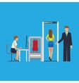 Airport security equipment for scanning the vector image vector image