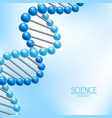 background with dna molecules structure vector image
