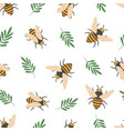 bee pattern cute flying bees insects kids vector image