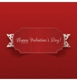 Big horizontal realistic Valentines Day Banner vector image vector image