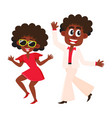 black african american couple man and woman vector image vector image