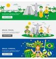 Brazilian Culture 3 Flat Banners Set vector image vector image