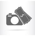 camera money icon vector image vector image