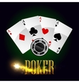 Casino poker cards poster vector image vector image