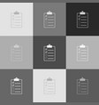 checklist sign grayscale vector image vector image
