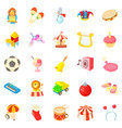 children show icons set cartoon style vector image vector image