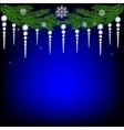 Christmas fir twig vector image vector image