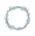 circular decoration or wreath made of rosemary vector image vector image