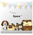 Cute animal family background with dogs vector image