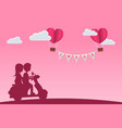 cute character cartoon silhouette and paper style vector image vector image