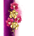 Design with Orchids vector image vector image