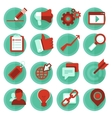 digital marketing icons in flat style vector image vector image