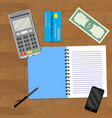 financial planning business vector image vector image