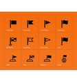 Flag icons on orange background vector image vector image