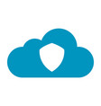 flat color cloud protection icon vector image vector image