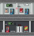 Flat design of underground subway vector image vector image