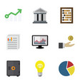 flat icon finance set of counter growth vector image