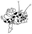 Flying Ladybug vector image vector image