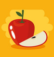 fresh organic fruit concept vector image