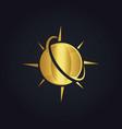 Globe planet arrow gold logo