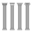 greek and roman architecture classic stone colomns vector image