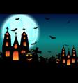 halloween background with haunted house pumpkin vector image vector image
