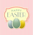 Happy Easter retro template vector image vector image