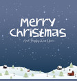 happy new year merry christmas 2019 and snow vector image